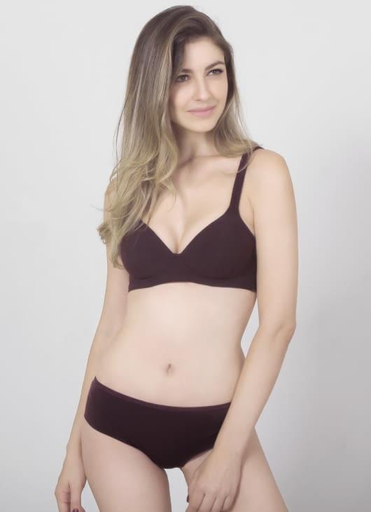 Raquel Lingerie Maroon Karlita Hipster Panty