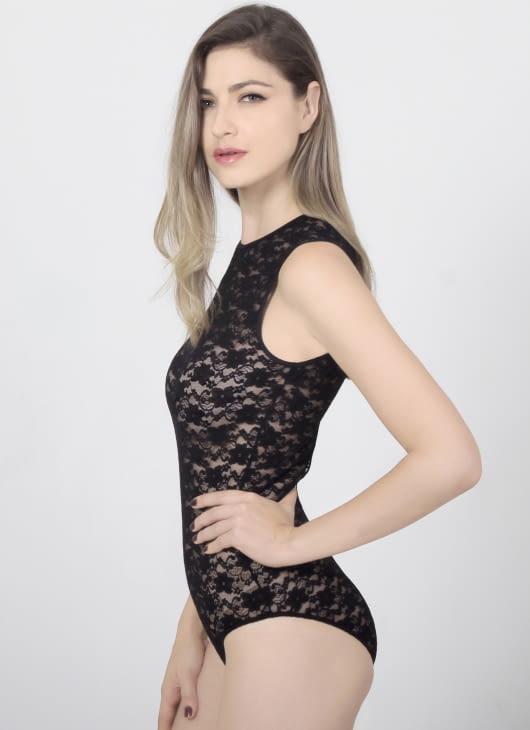 Raquel Lingerie Black Giana Bodysuit Lingerie