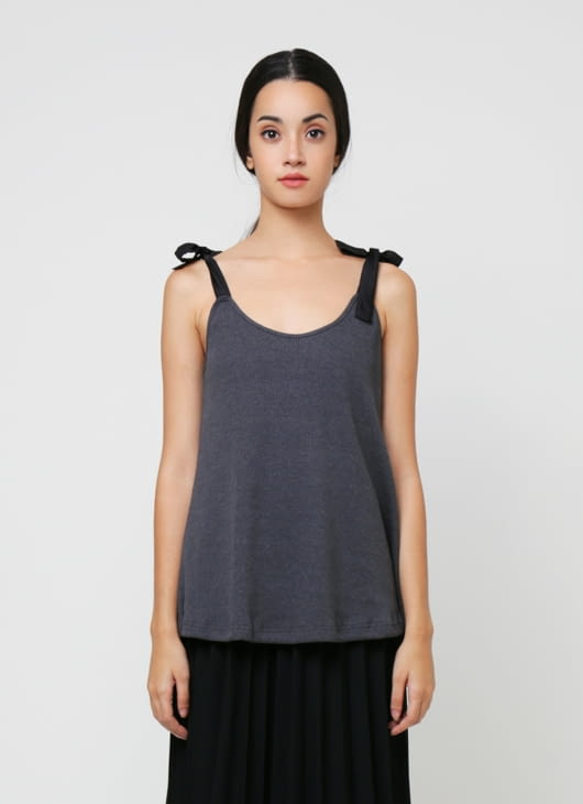 Goya Gray Bow Top
