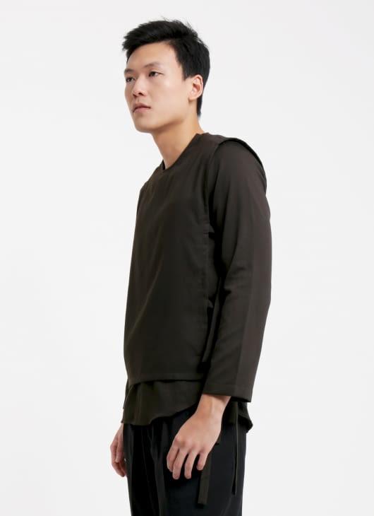 jan sober Dark Chocolate Layered Shirt