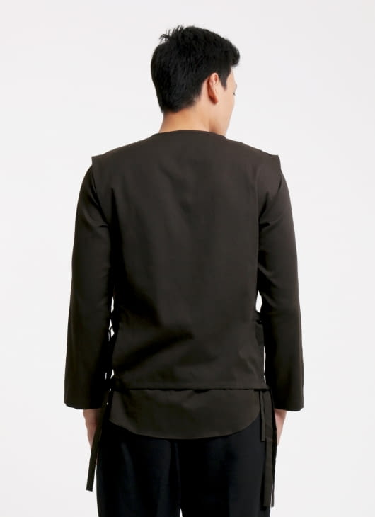 jan sober Dark Chocolate Layered Shirt