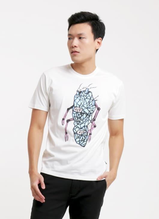 DGTMB by Eko Nugroho Broken White 'Double Kepala Batu' DGTMB T-Shirt