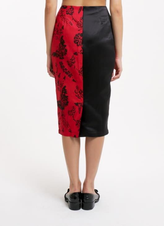 Amanda Hartanto Batik Red Nilam Skirt