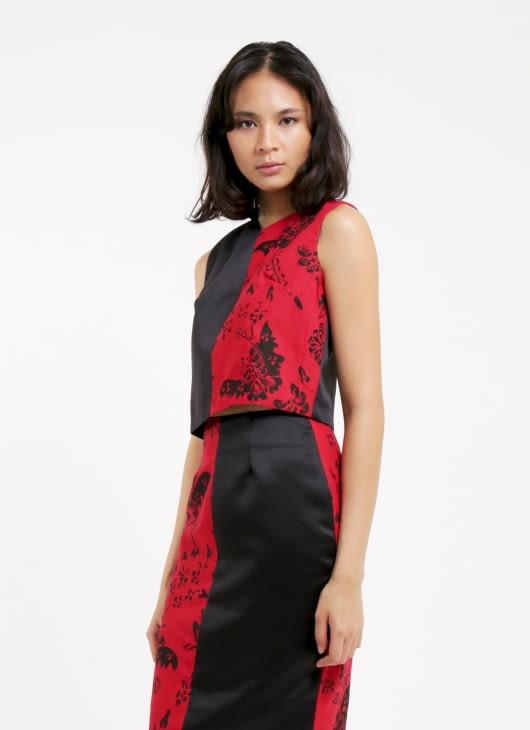 Amanda Hartanto Batik Red Nilam Top