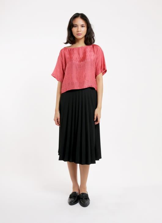 Larissa Duliar Rosewood Alli Short Sleeved Blouse