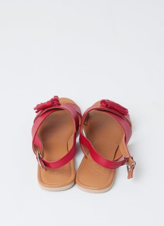 Aschas Red Rochas Sandals