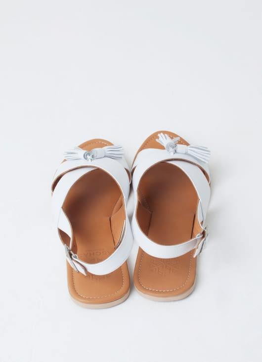 Aschas White Rochas Sandals