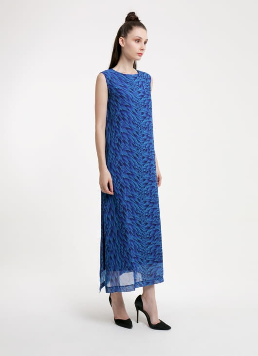 DIBBA Pelage Blue Maxi Dress
