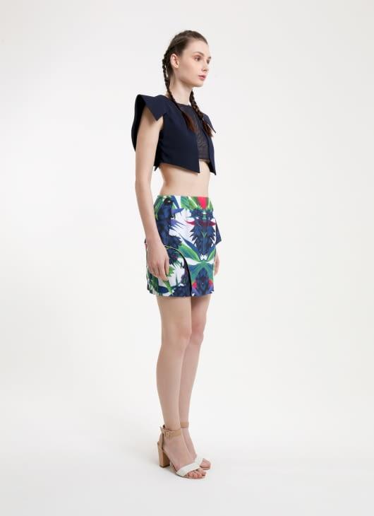 DIBBA Paradisaea Print Skirt