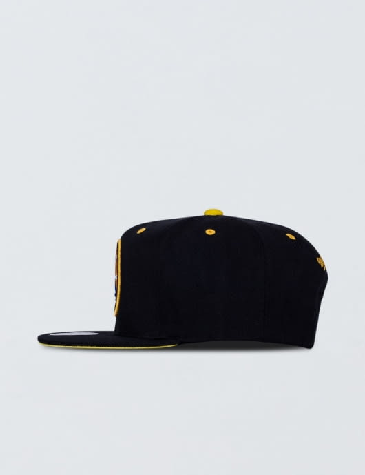 Mitchell & Ness Golden State Warriors Solid Velour Logo Snapback