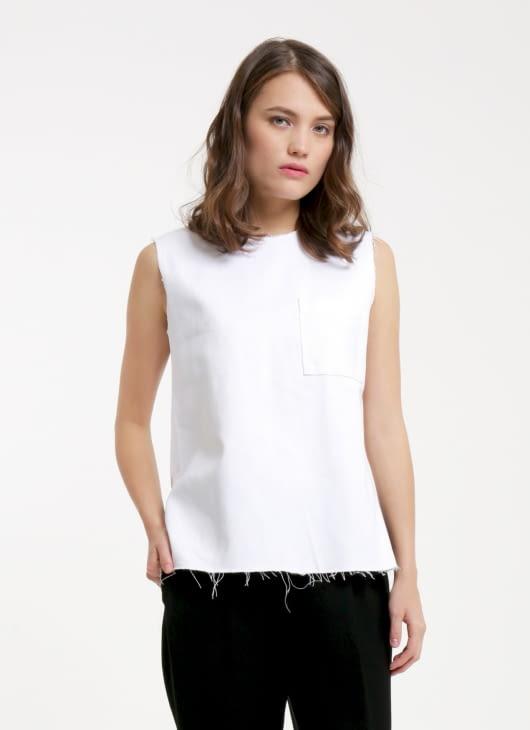 Renoir White Fira Sleeveless Top