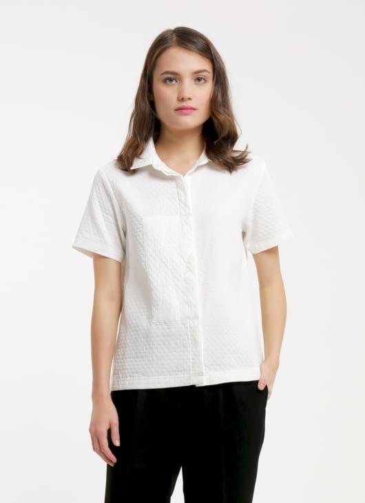 Renoir White Freya Boxy Shirt