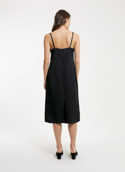 Renoir Black Shae Slip Dress