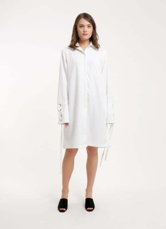 Renoir White Attica Dress