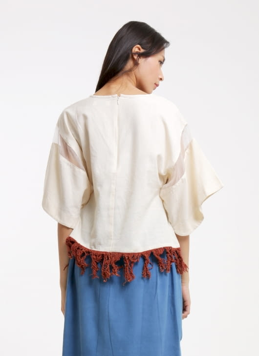IMAJI Studio White Anther Top