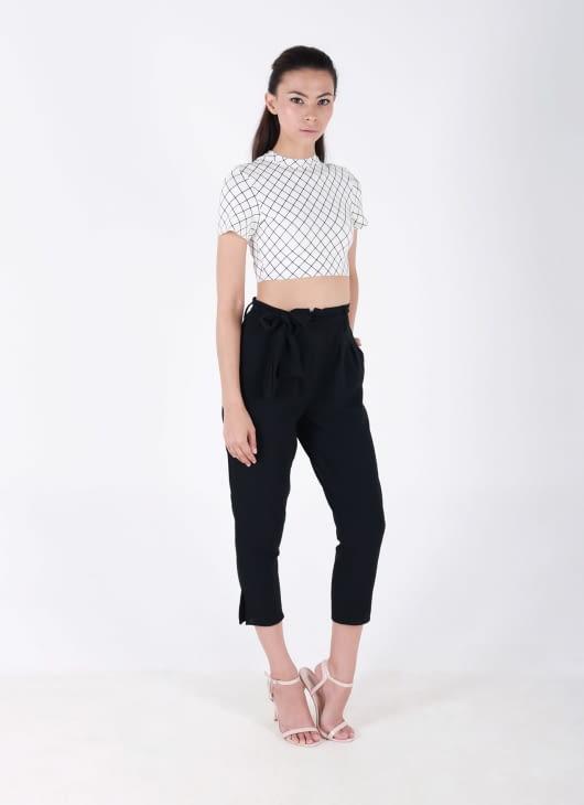 Auria Black Minimal Pants