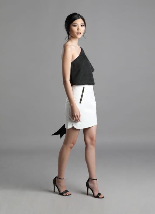 Auria White Zinc Skirt