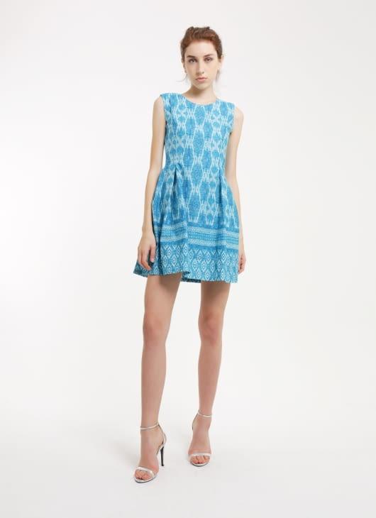 Rianty Batik Debora Blue Songket Dress