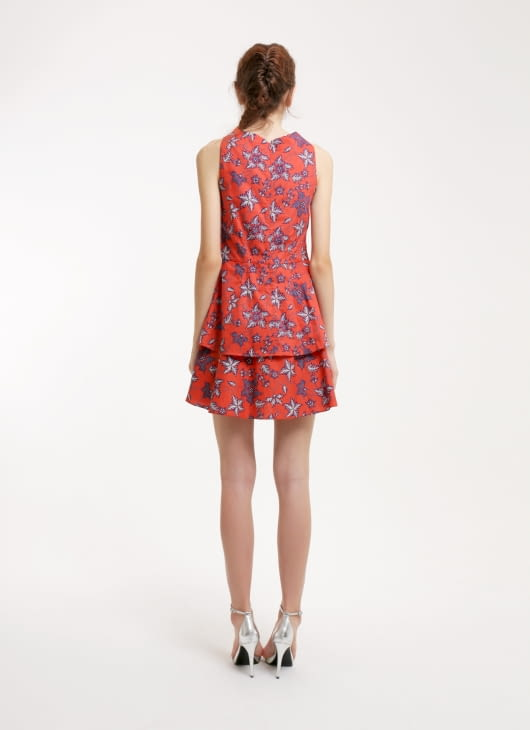 Rianty Batik Red Leila Flower Dress