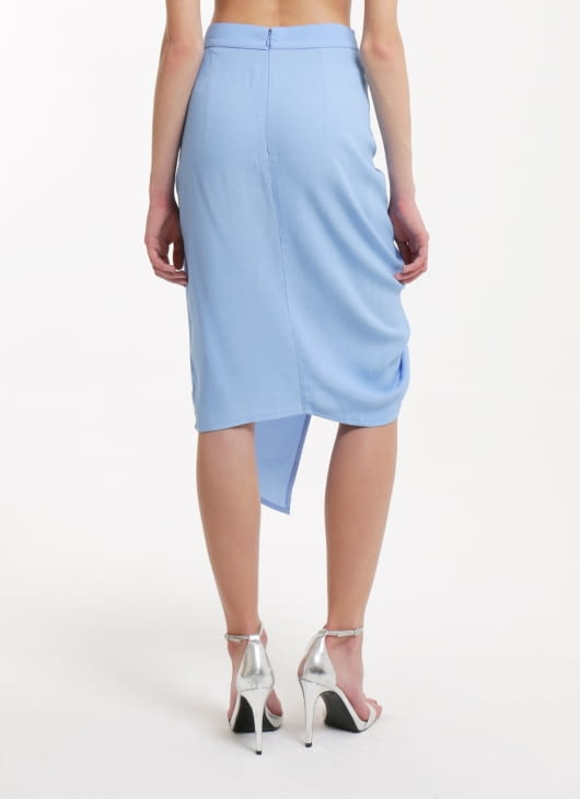 Paulina Katarina Blue Colonna skirt