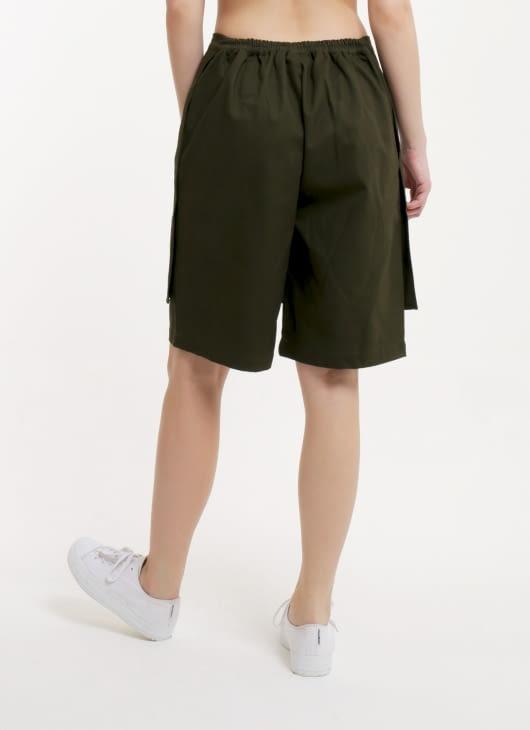 Moral Army Green Bebat Front Flap Short