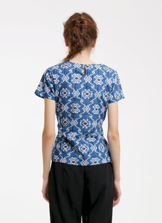 Rianty Batik Blue Zoya Batik Blouse