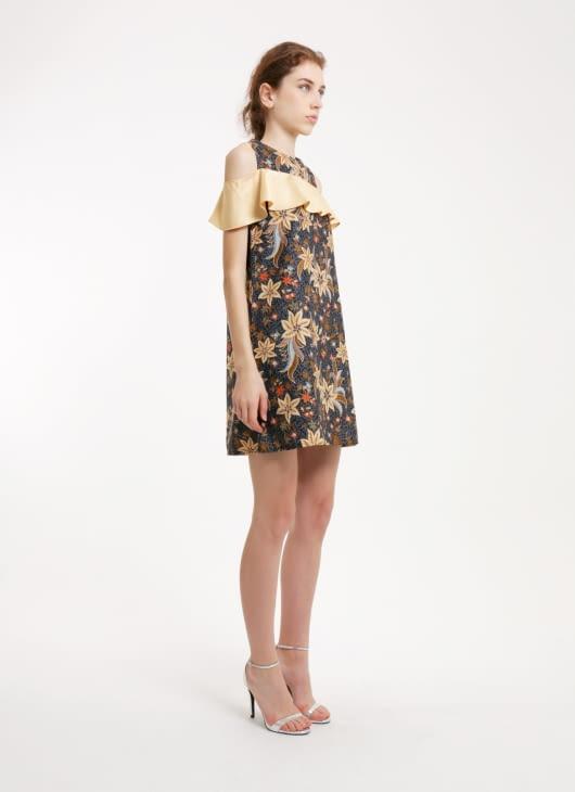 Rianty Batik Black Clarita Batik Dress