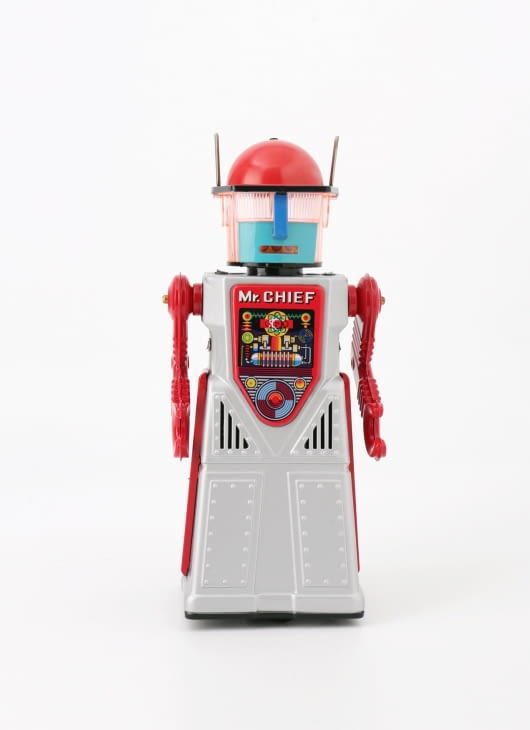 The Tin Industry Silver Chief Smoking Robot