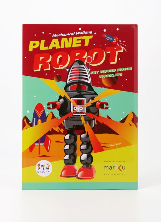 The Tin Industry Planet Robot Tin Poster