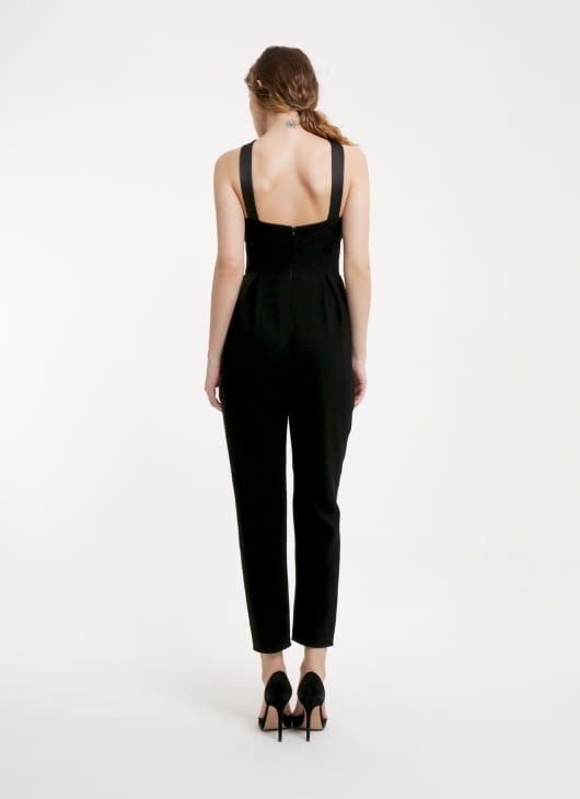 Peggy Hartanto Black Fetch Jumpsuit