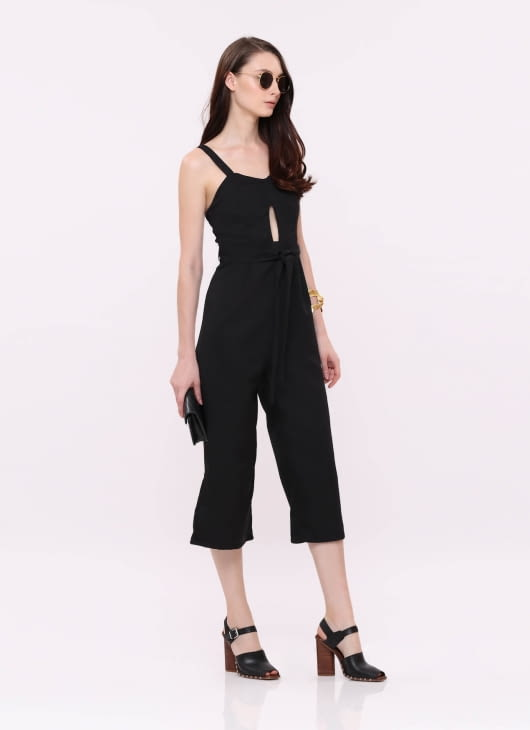 Wearstatuquo Black The Walk Jumpsuit