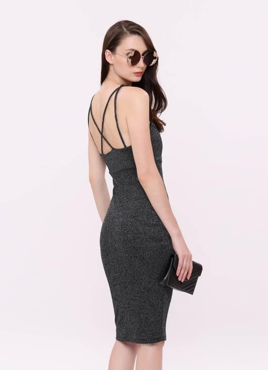 Wearstatuquo Dark Gray From Miami To NYC Dress