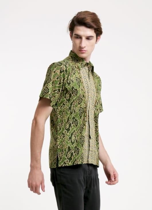Rianty Batik Green MM Batik Shirt
