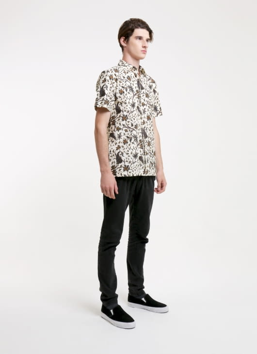 Rianty Batik Cream Mikel Batik Shirt