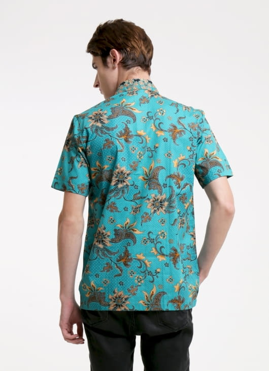 Rianty Batik Green Carola Batik Shirt