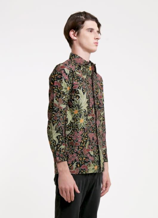 Rianty Batik Olive Gerik Batik Shirt