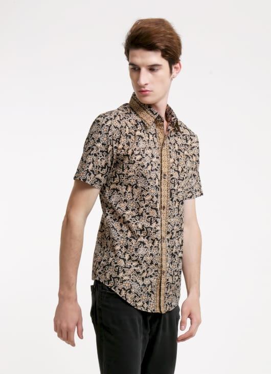 Rianty Batik Black Mau Slimfit Batik Shirt