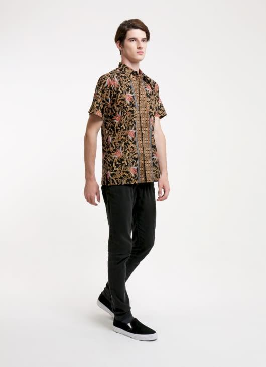 Rianty Batik Black Romy Batik Shirt
