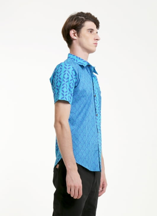 Rianty Batik Blue Ivan Slimfit Batik Shirt