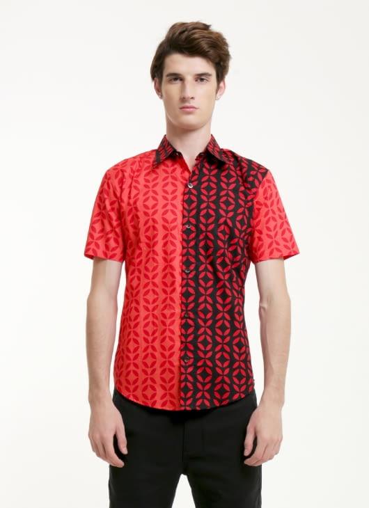 Rianty Batik Red Ivan Slimfit Batik Shirt