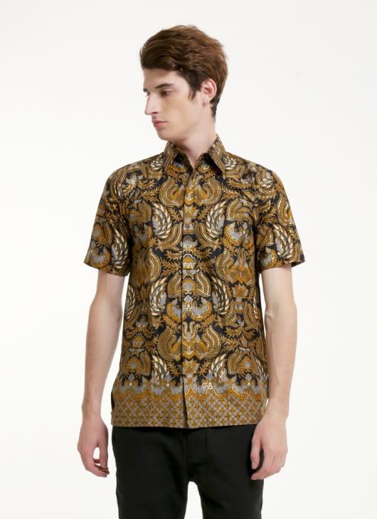 Rianty Batik Black Prasmana Batik Shirt