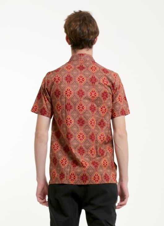 Rianty Batik Red Caesar Songket Batik Shirt