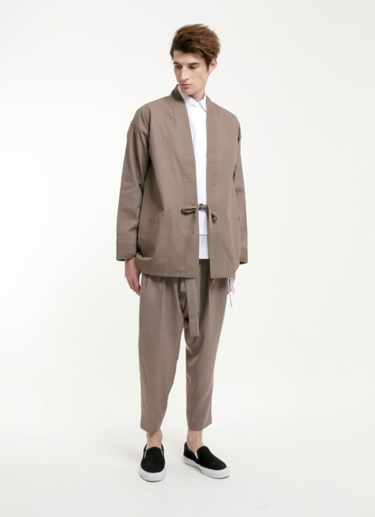 jan sober Brown Earth Kimono Outer