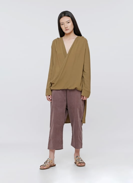 Les Riches Pickle Green Indi Top