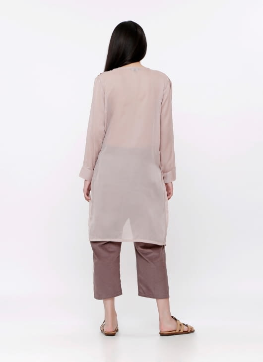 Les Riches Dusty Pink Indi Top