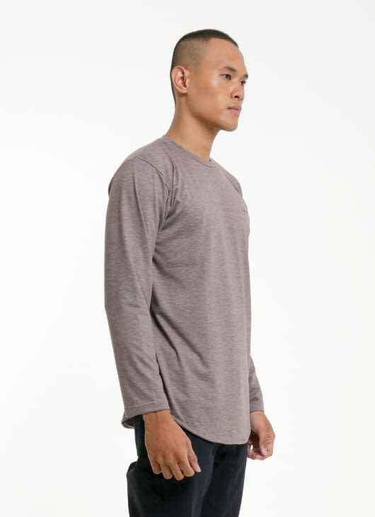 W.Essentiels Stone Chest Logo oversize Long Sleeve Tee