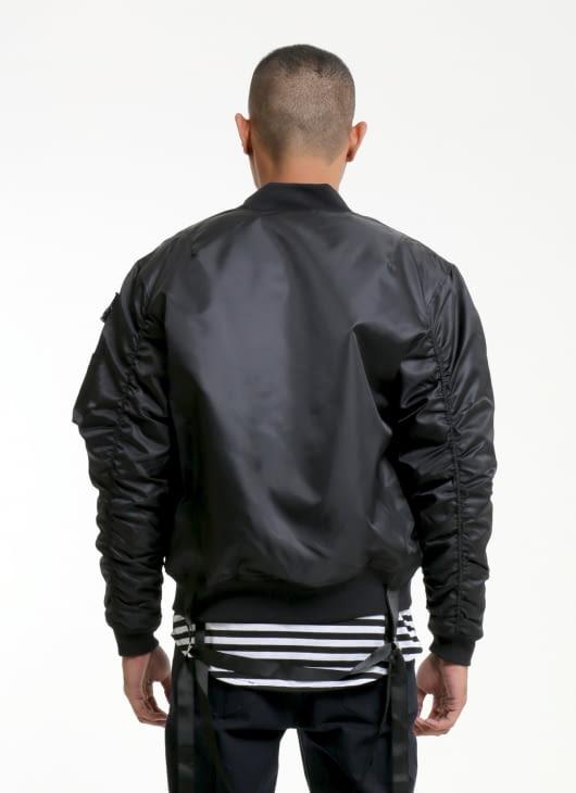 W.Essentiels Black Charaix Bomber Jacket