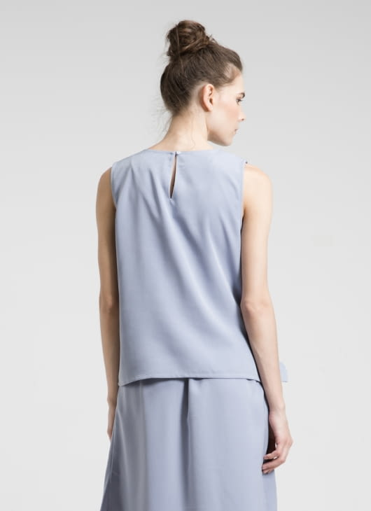 ATS THE LABEL Blue Earl Top