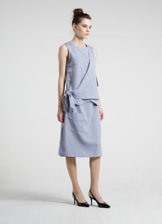 ATS THE LABEL Blue Jacy  Skirt