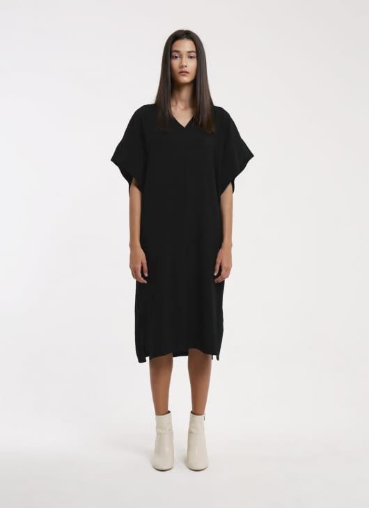 Wastu Black Squid Dress